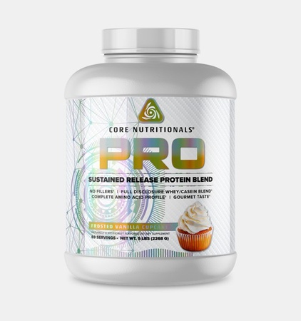 Core Nutritionals PRO Sustained Release Protein Blend Frosted Vanilla Cupcake - 5 Lb