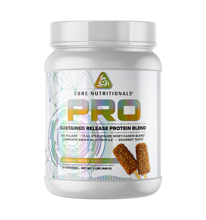 Core Nutritionals PRO Sustained Release Protein Blend Vanilla Toffee Gaintime  - 2 Lb