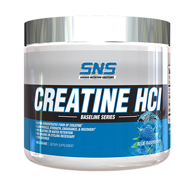 SNS Serious Nutrition Solutions Creatine HCL Powder Blue Raspberry - 150 Servings