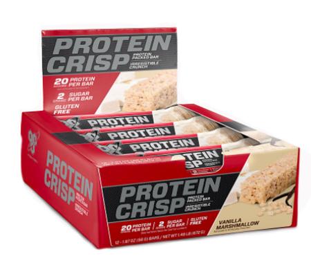 Bsn Syntha-6 Protein Crisp Bars Vanilla Marshmallow - 12 Bars