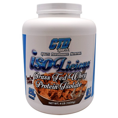 CTD Sports Isolicious Whey Isolate Protein Cinnamon Cereal Crunch - 4 Lb