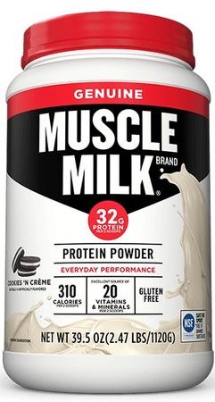 Cytosport Muscle Milk - Cookie & Cream - 2.47 Lb *Expiration date 3/21