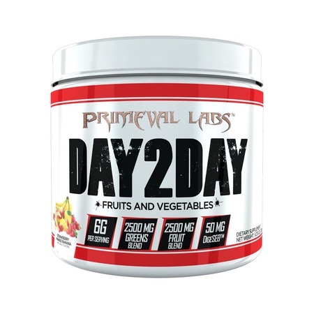 Primeval Labs Day2Day Fruits & Vegetables  Strawberry Mango Banana - 60 Servings