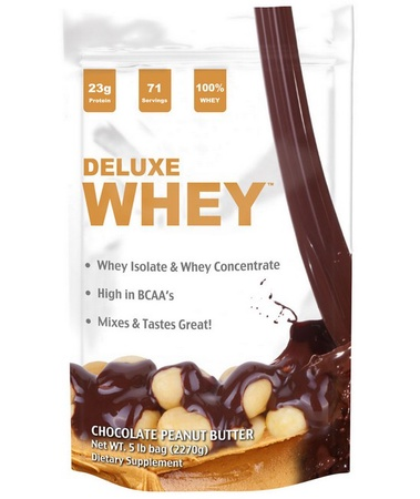 Deluxe Whey Protein Chocolate Peanut Butter - 5 Lb  *SALE