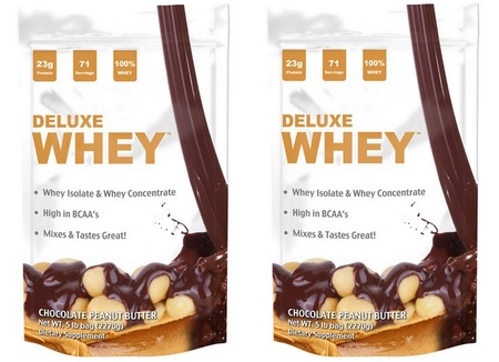 Deluxe Whey Protein Chocolate Peanut Butter - 10 Lb (2 x 5 Lb Bags)