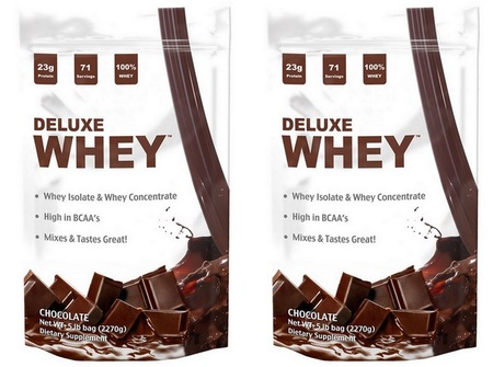 Deluxe Whey Protein Chocolate - 10 Lb