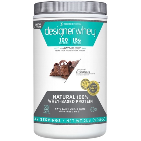 Designer Whey Protein Gourmet Chocolate - 2 Lb