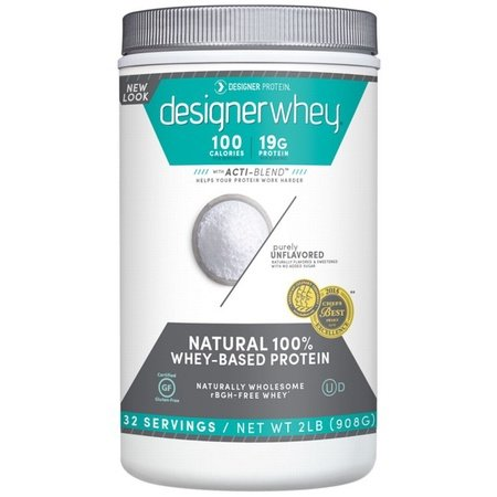 Designer Whey Protein Purely Unflavored - 2 Lb