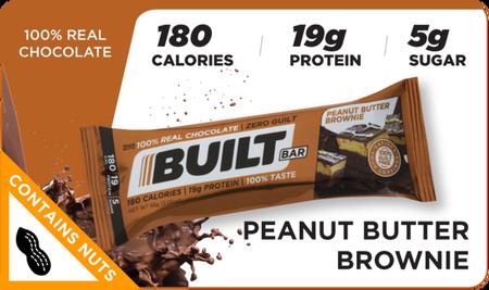 Built Bar Peanut Butter Brownie - 18 Bars