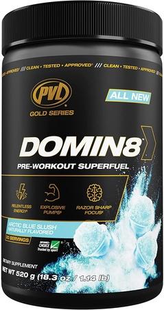 PVL Domin8 Pre-Workout  Arctic Blue Slush  - 20 Servings
