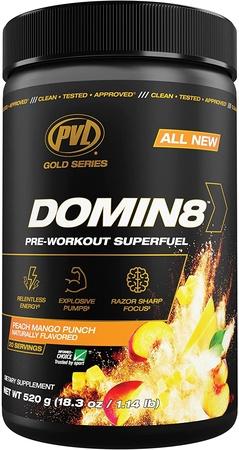 PVL Domin8 Pre-Workout  Peach Mango Punch - 20 Servings