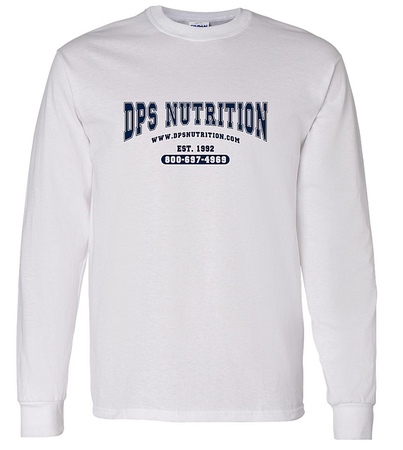 Dps Nutrition Long Sleeve T-Shirt White - Med