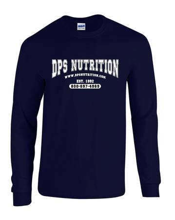 Dps Nutrition Long Sleeve T-Shirt Navy Blue - XXXL