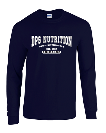 Dps Nutrition Long Sleeve T-Shirt Navy Blue - Medium