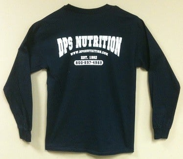 Dps Nutrition Long Sleeve T-Shirt Navy Blue - Large