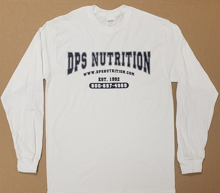 Dps Nutrition Long Sleeve T-Shirt White - Large