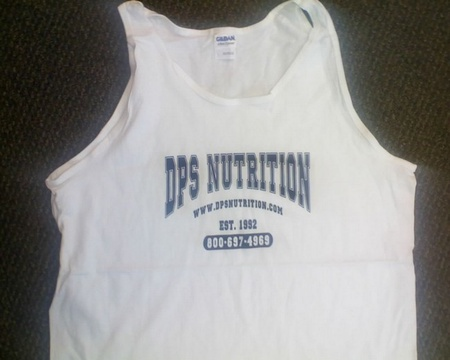 Dps Nutrition Tank Top White - Large