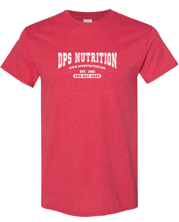 Dps Nutrition T-Shirt Heather Red - XL