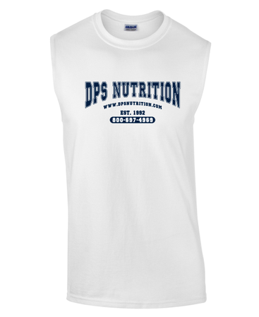 Dps Nutrition Sleeveless T-Shirt White - XXL