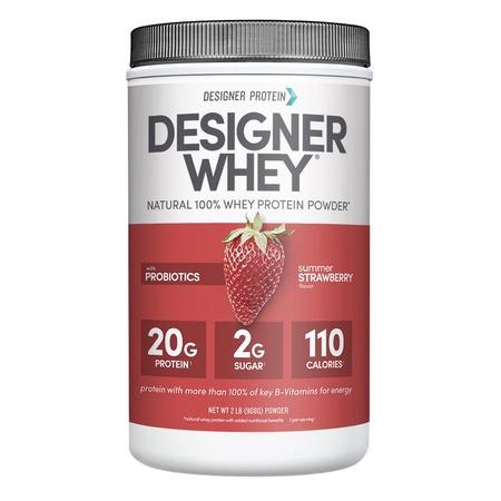 Designer Whey Protein Strawberry - 2 Lb