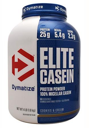 Dymatize Elite Casein Protein Cookies & Cream - 4 Lb