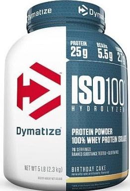 Dymatize ISO 100 Whey Protein Isolate  Birthday Cake - 5 Lb