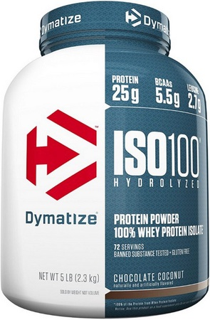 Dymatize ISO 100 Whey Protein Isolate  Chocolate Coconut - 5 Lb (72 Servings)  ($67.99 w/coupon code DPS10)