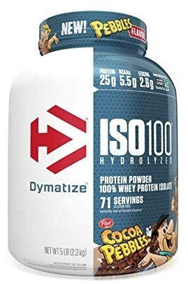 -Dymatize ISO 100 Whey Protein Isolate   Cocoa Pebbles - 5 Lb (71 Servings)  ($67.99 w/coupon code DPS10)