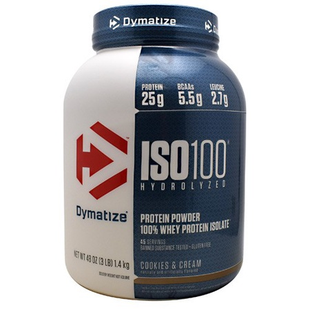 Dymatize ISO 100 Whey Protein Isolate  Cookies & Cream - 3 Lb