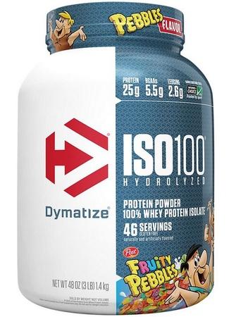 -Dymatize ISO 100  Fruity Pebbles - 3 Lb (46 Servings)