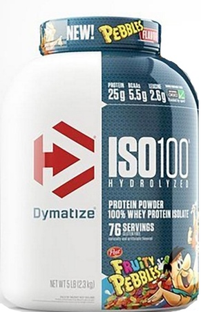 Dymatize ISO 100 Whey Protein Isolate  Fruity Pebbles - 5 Lb (76 Servings)  ($76.99 w/coupon code DPS10)