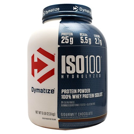 Dymatize ISO 100 Whey Protein Isolate  Gourmet Chocolate - 5 Lb  (71 Servings)  ($67.99 w/coupon code DPS10)