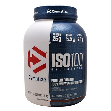 Dymatize ISO 100 Whey Protein Isolate  Gourmet Chocolate - 3 Lb