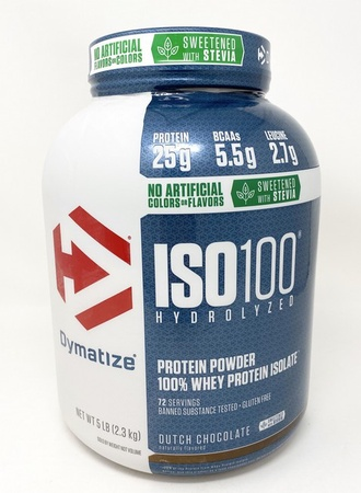 -Dymatize ISO 100  Natural Dutch Chocolate - 5 Lb *Expiration date 12/20 ($47.99 w/code DPS10)