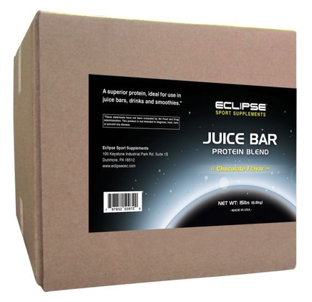 Eclipse Sport Supplements Juice Bar Protein Chocolate - 15 Lb