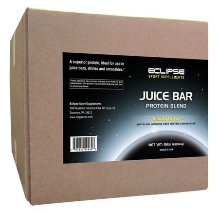 Eclipse Sport Supplements Juice Bar Protein Vanilla - 15 Lb