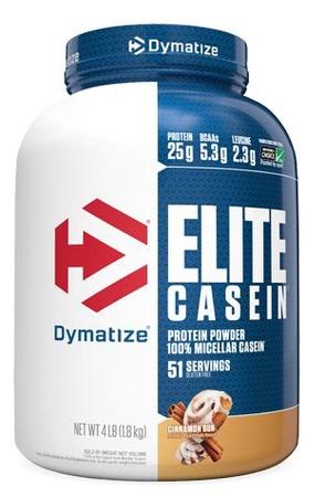 Dymatize Elite Casein Protein Cinnamon Bun - 4 Lb