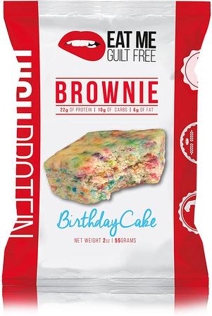 Eat Me Guilt Free Protein Brownie Birthday Cake - 12 Brownies