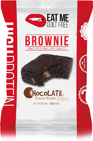 Eat Me Guilt Free Protein Brownies  Chocolate Peanut Butter Bliss - 12 Brownies