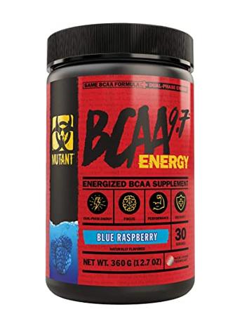 Mutant BCAA 9.7 ENERGY Blue Raspberry - 30 Servings