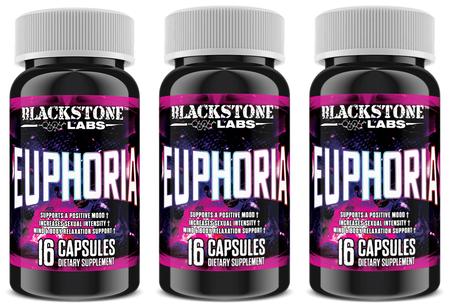 Blackstone Labs Euphoria - 3 x 16 Cap Bottles ($31.47 w/coupon code DPS10)