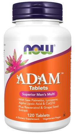 Now Foods ADAM Mens Multi Vitamin Tablets - 120 Tab