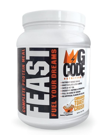 GCode Nutrition FEAST Complete Protein Meal - Cinnamon Toast Crush - 20 Servings