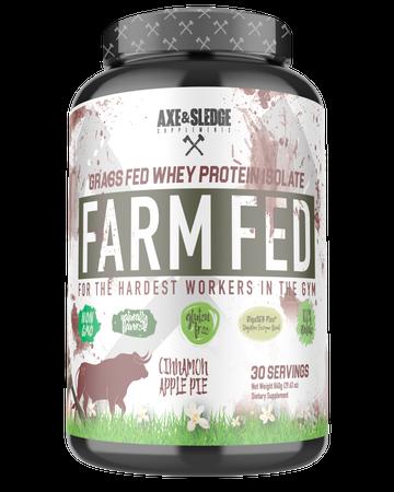 Axe & Sledge Farm Fed Protein -Grass-fed Whey Protein Isolate  Cinnamon Apple Pie - 30 Servings