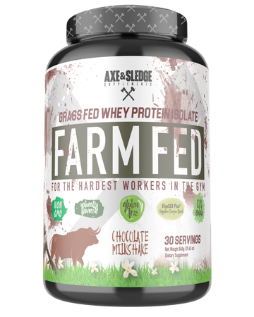 Axe & Sledge Farm Fed Protein -Grass-fed Whey Protein Isolate  Chocolate - 30 Servings