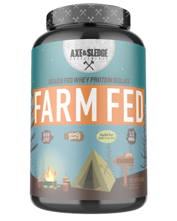 Axe & Sledge Farm Fed Protein -Grass-fed Whey Protein Isolate  Smores - 30 Servings