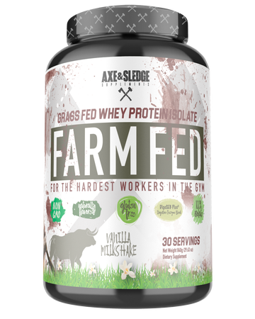 Axe & Sledge Farm Fed Protein -Grass-fed Whey Protein Isolate  Vanilla - 30 Servings