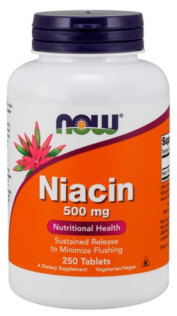 Now Foods Niacin Time Release 500 Mg - 250 Tab