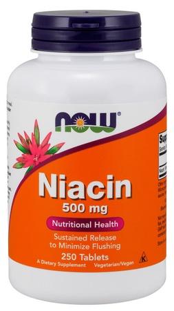 Now Foods Niacin Time Release 500 Mg - 250 Tab
