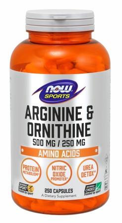 Now Foods Arginine & Ornithine 500/250 Mg - 250 Cap